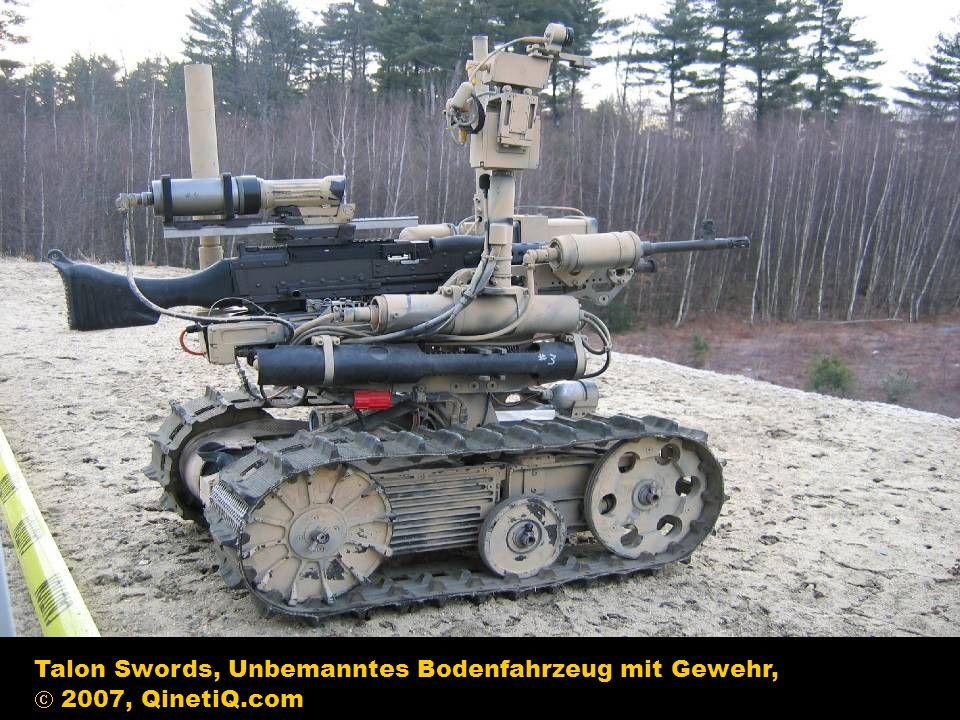 Talon Swords, Unbemanntes Bodenfahrzeug mit Gewehr, 2007, QinetiQ.com