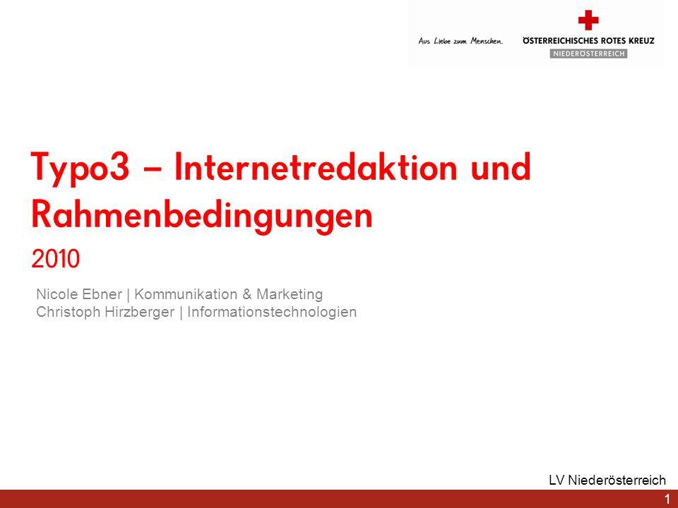 www.roteskreuz.at Datei Liste Ansicht des Inhalts eines Ordners / einer Medienkategorie Bearbeiten Ansehen Info Umbenennen Ersetzen Löschen 22 LV Niederösterreich