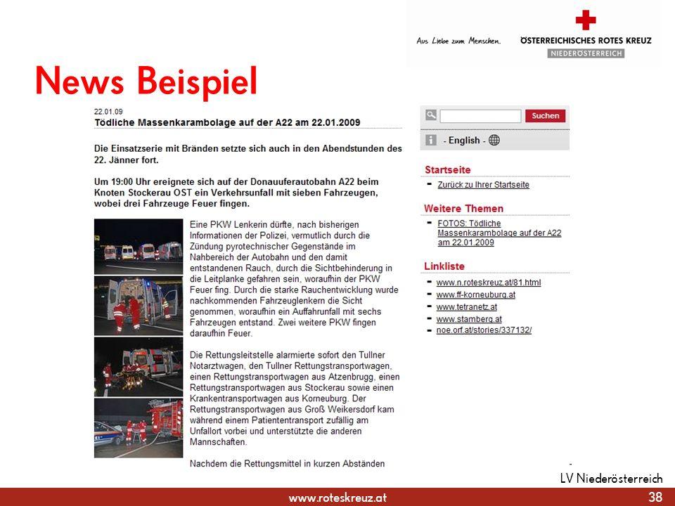 www.roteskreuz.at News Beispiel 38 LV Niederösterreich