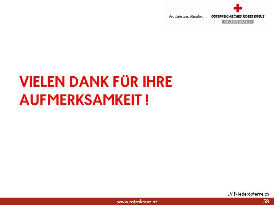 www.roteskreuz.at VIELEN DANK FÜR IHRE AUFMERKSAMKEIT ! 58 LV Niederösterreich