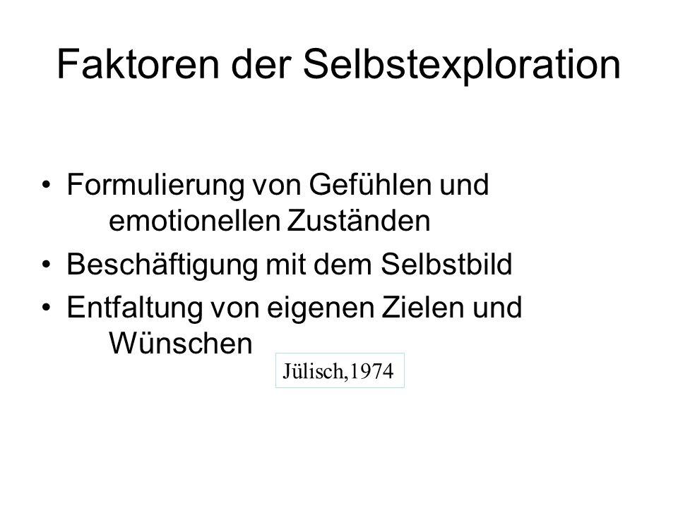 Die Selbstexplorationsskala von Tringer-Pintér 1.