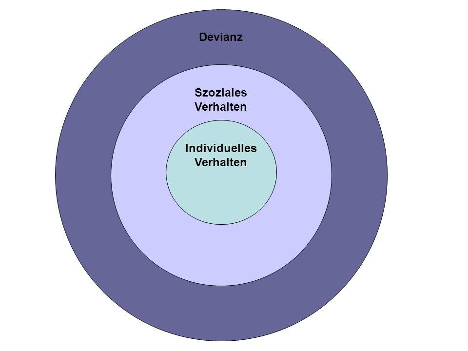 Devianz Szoziales Verhalten Individuelles Verhalten
