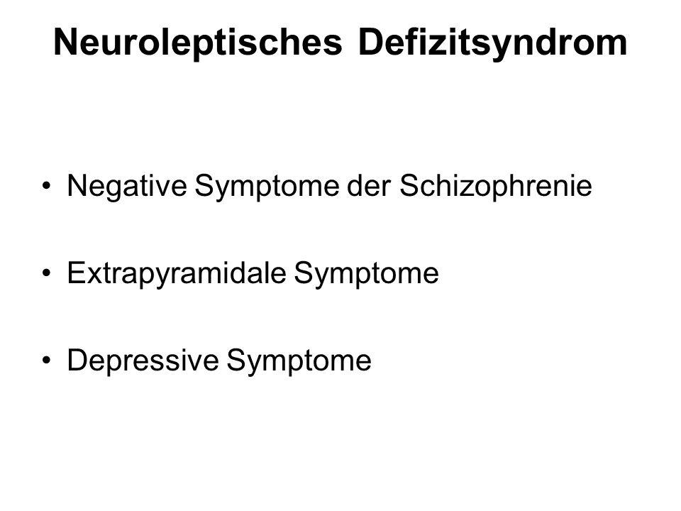 Neuroleptisches Defizitsyndrom Negative Symptome der Schizophrenie Extrapyramidale Symptome Depressive Symptome