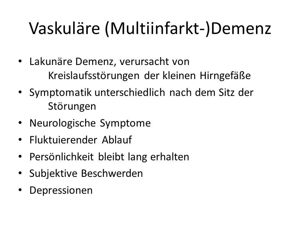 Therapie der Demenzen Nootropika (wirken symptomatisch auf den zerebralen Stoffwechsel und auf die Mikrozirkulation, Besserung in 4-8 Wochen) – (Piracetam, Vinpocetin, etc.) Acetylcholinesterase-Hemmer: bei milden und mittelschweren Formen der Alzheimer-Demenz, Besserung zu 25 %.