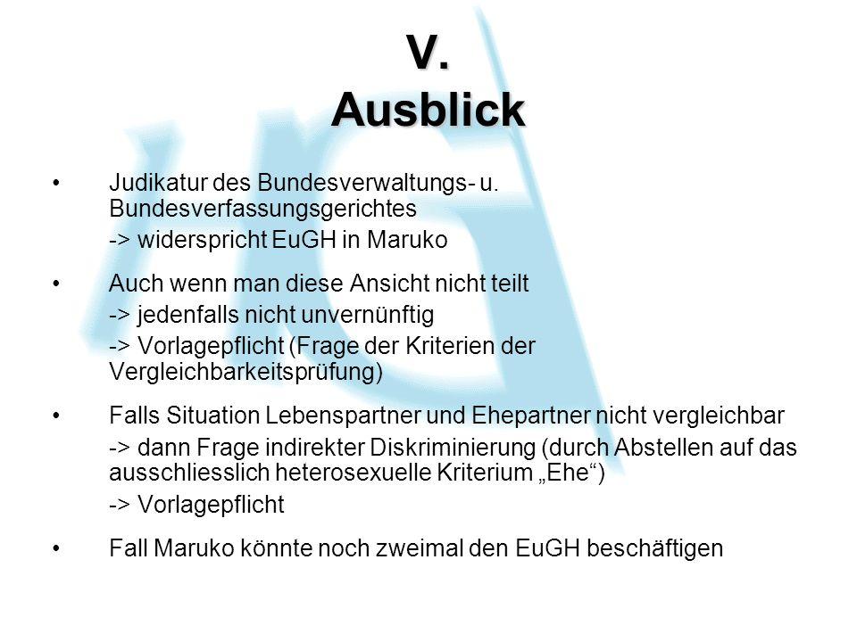 V. Ausblick Judikatur des Bundesverwaltungs- u.
