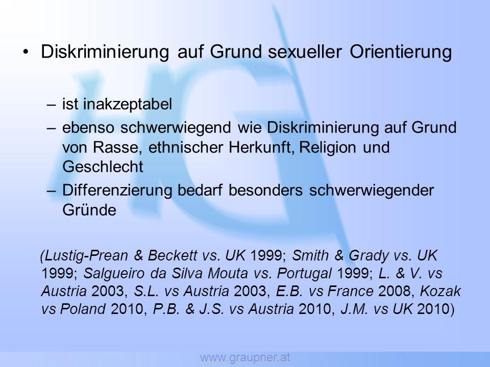 www.graupner.at Nicht bloß negative Rechte auf Freiheit von staatlichen Eingriffen sondern auch positive Rechte auf (aktiven) Schutz dieser Rechte, gegenüber dem Staat wie auch gegenüber anderen Individuen.
