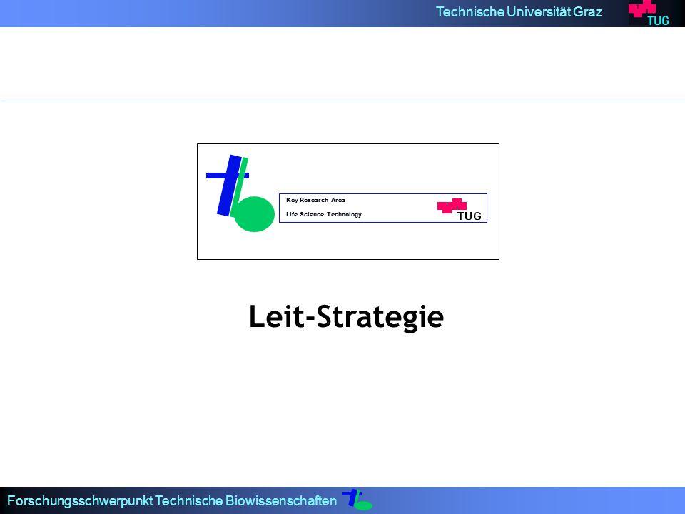 Technische Universität Graz Forschungsschwerpunkt Technische Biowissenschaften Key Research Area Life Science Technology Leit-Strategie