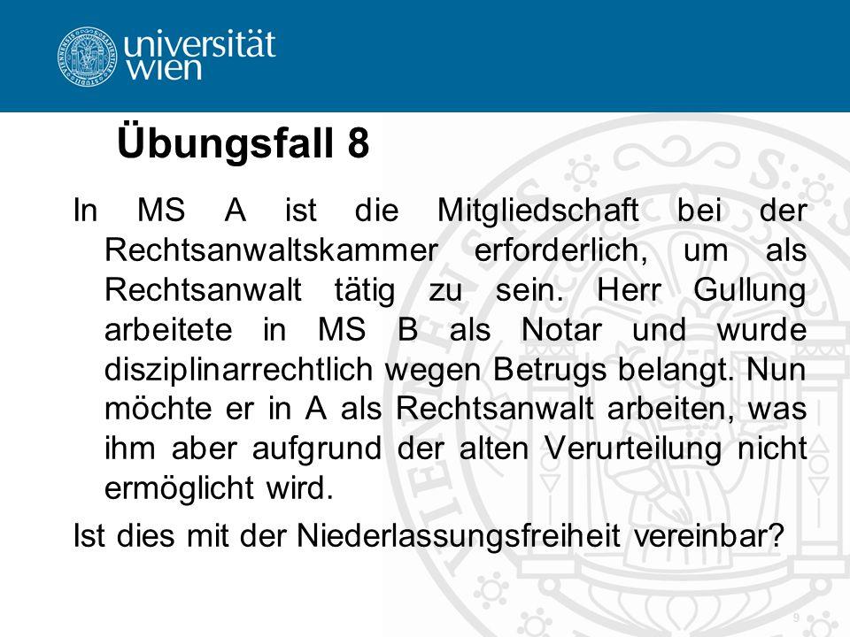 Übungsfall 9 Nach österr.
