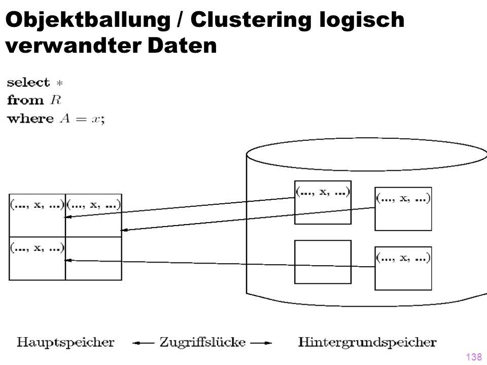 138 Objektballung / Clustering logisch verwandter Daten