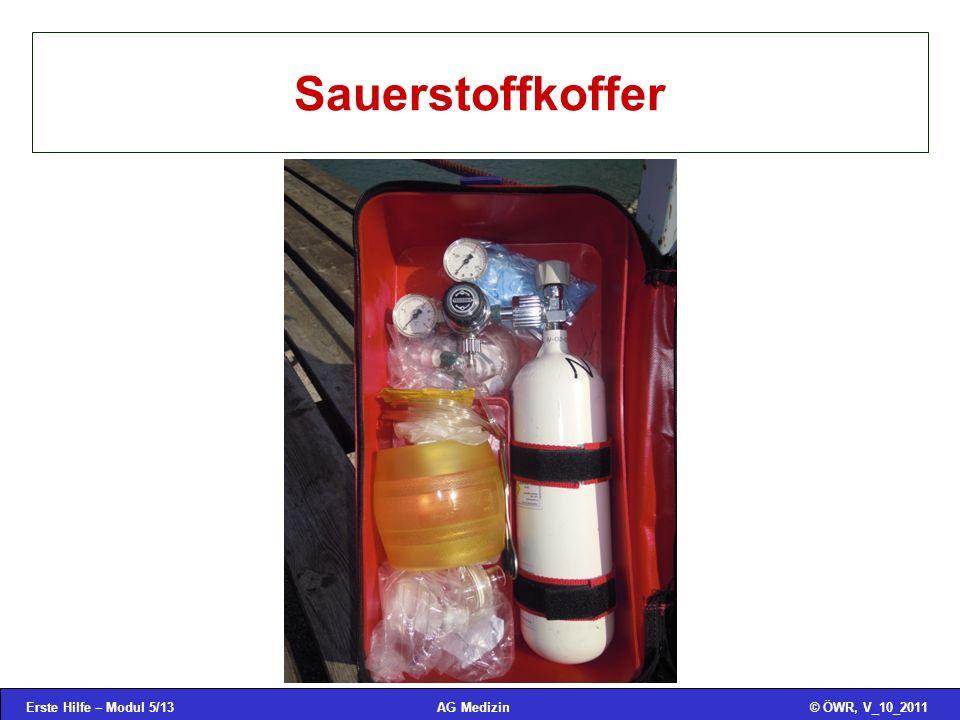 Erste Hilfe – Modul 5/13© ÖWR, V_10_2011AG Medizin Sauerstoffkoffer