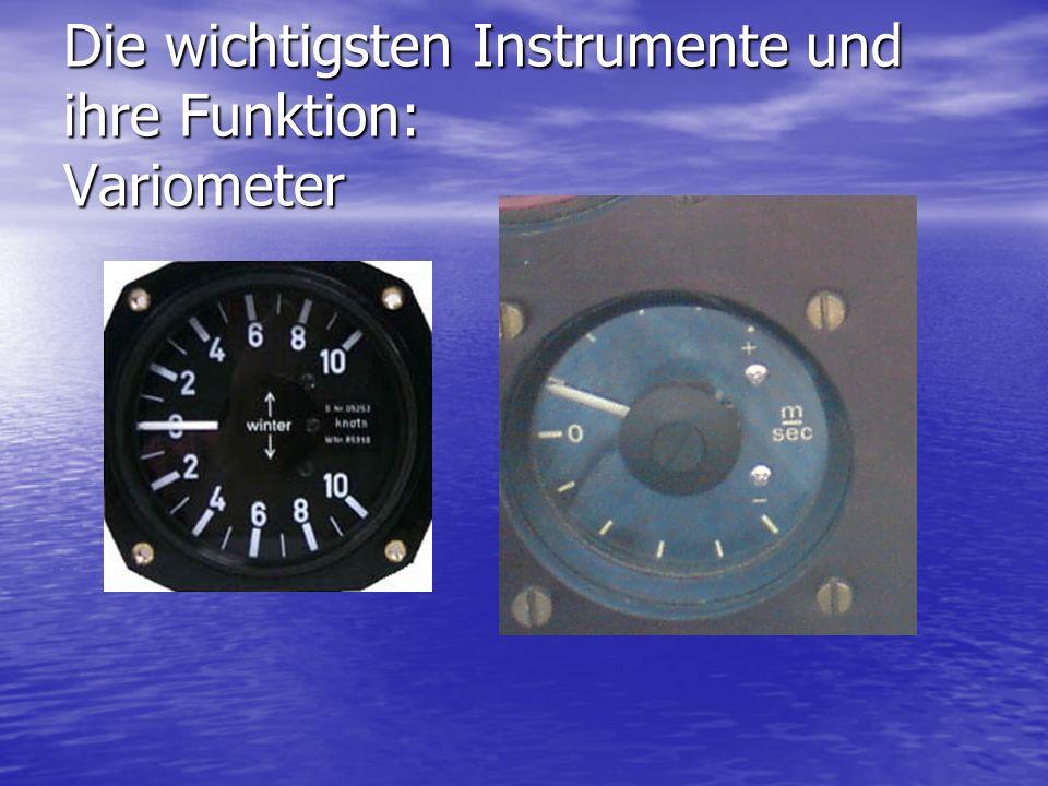 Die wichtigsten Instrumente und ihre Funktion: Variometer