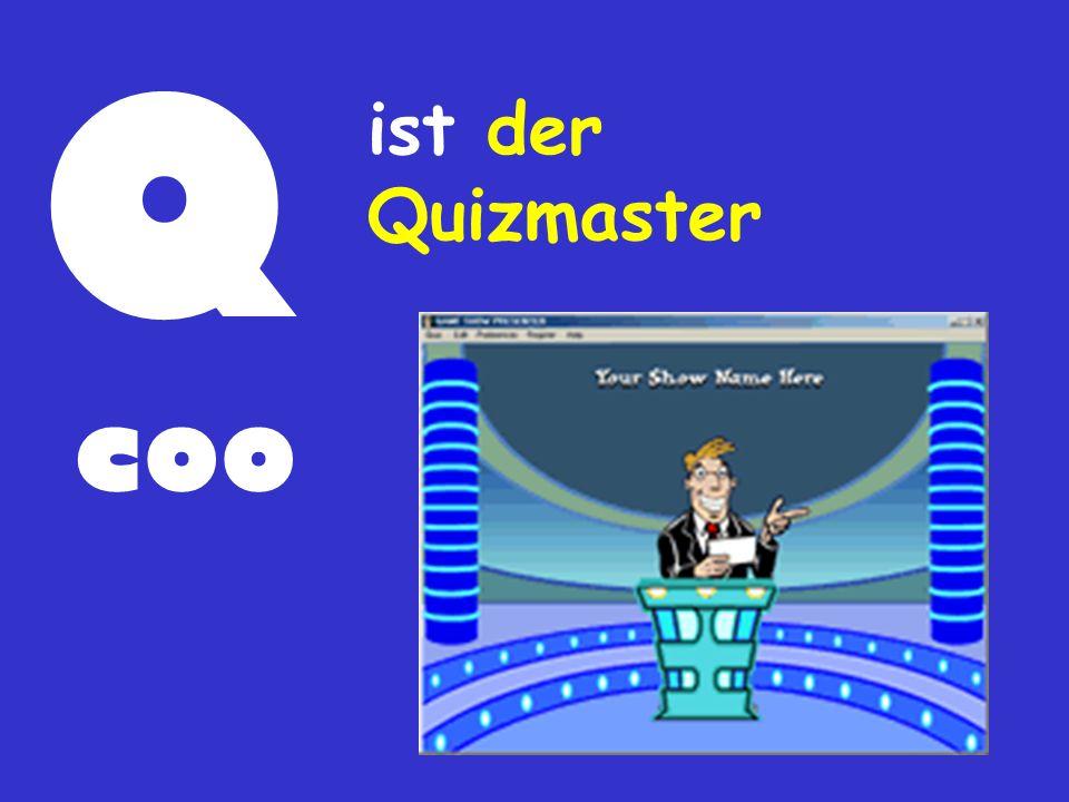 Q coo ist der Quizmaster