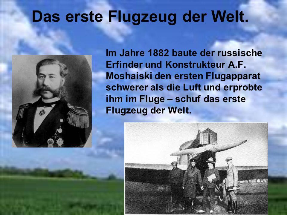 Die erste Flugapparate Der Mensch wollte hoch zu den Sternen fliegen. Es wurde Flügel aus Draht,der Luftballon und ein Flugapparat leichter als Luft,