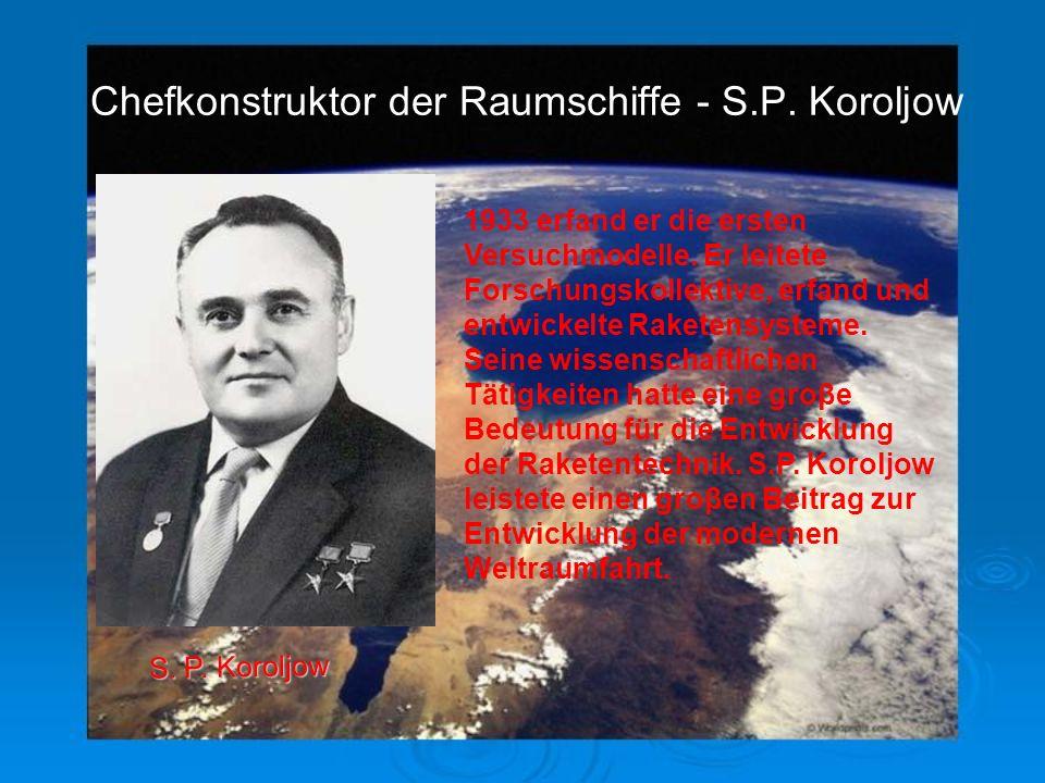 Die wissenschschaftlichen Arbeiten von M.W. Lomonosow, N.J. Shukowski, K.E. Ziolkowski, F.A. Zander, M.W. Keldysch, S.P. Koroljow und anderen legten d