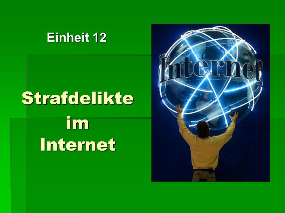 Strafdelikte im Internet Einheit 12