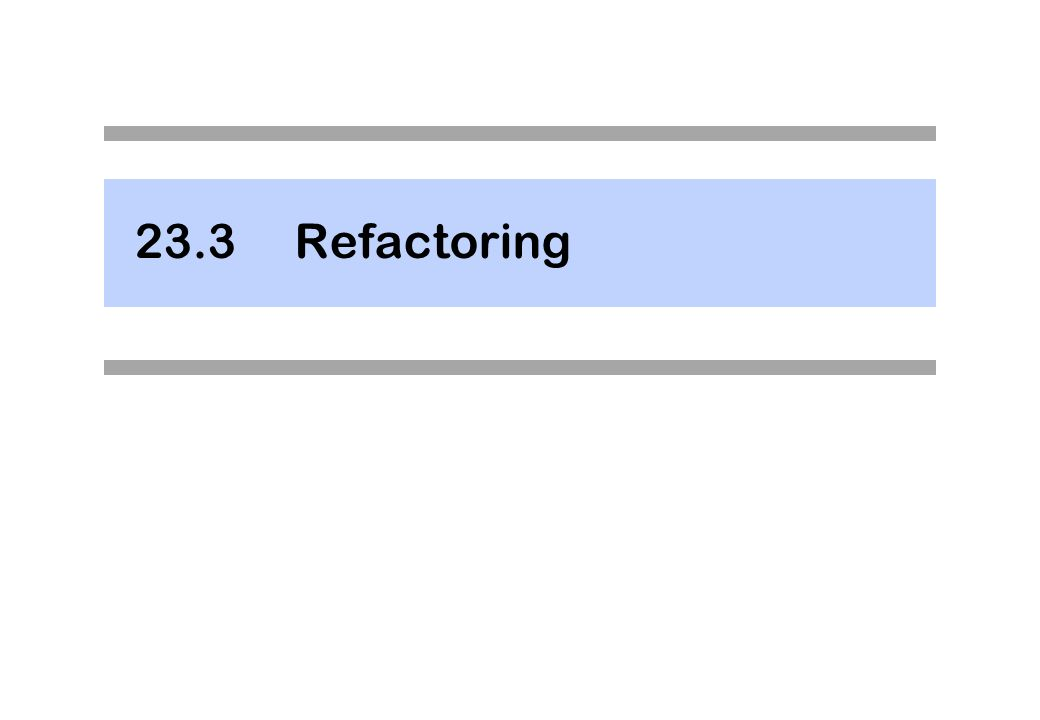 23.3Refactoring