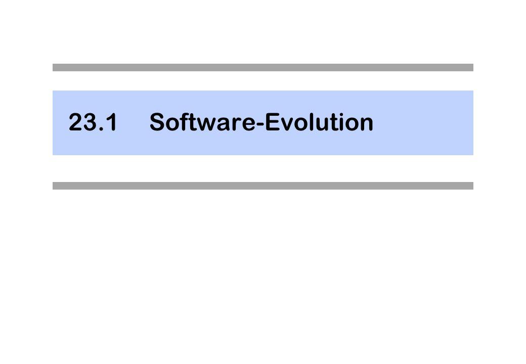 Laws of Software Evolution In den Siebzigerjahren: Tendenz, aus dem Software Engineering eine Wissenschaft mit Naturgesetzen und Formeln zu machen.