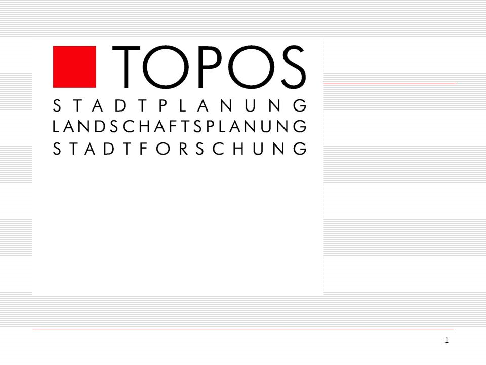 2 TOPOS Stadtforschung Sozialstudie Moabit West Präsentation des Projekts TOPOS Stadtforschung 15.09.2009