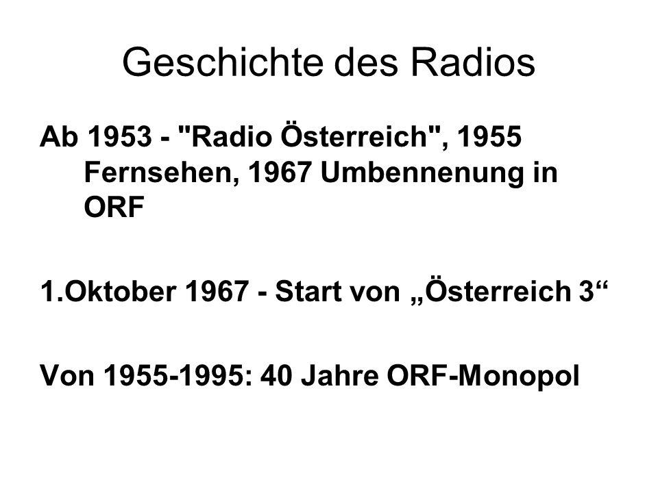 Geschichte des Radios Ab 1953 -