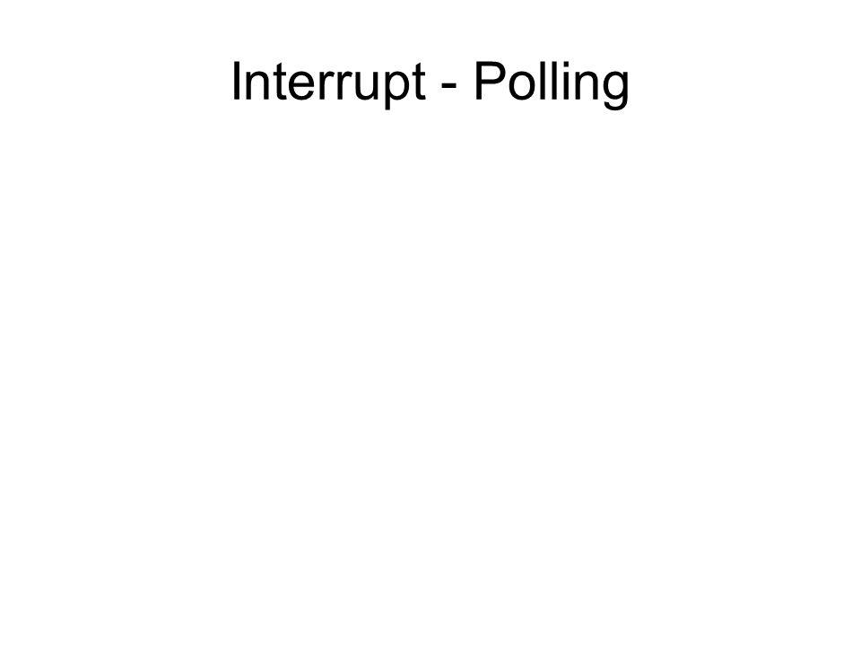 Interrupt - Polling