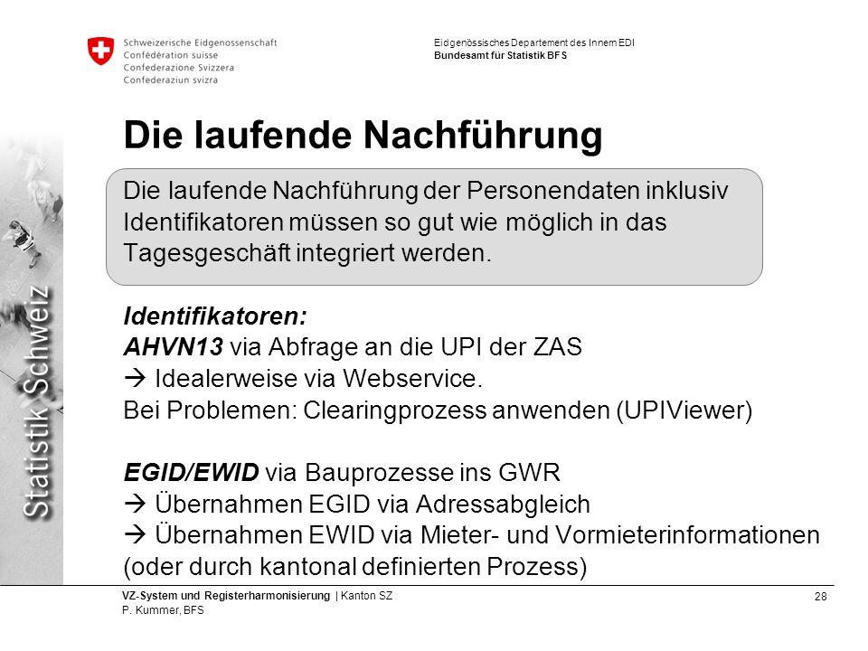 28 VZ-System und Registerharmonisierung | Kanton SZ P.