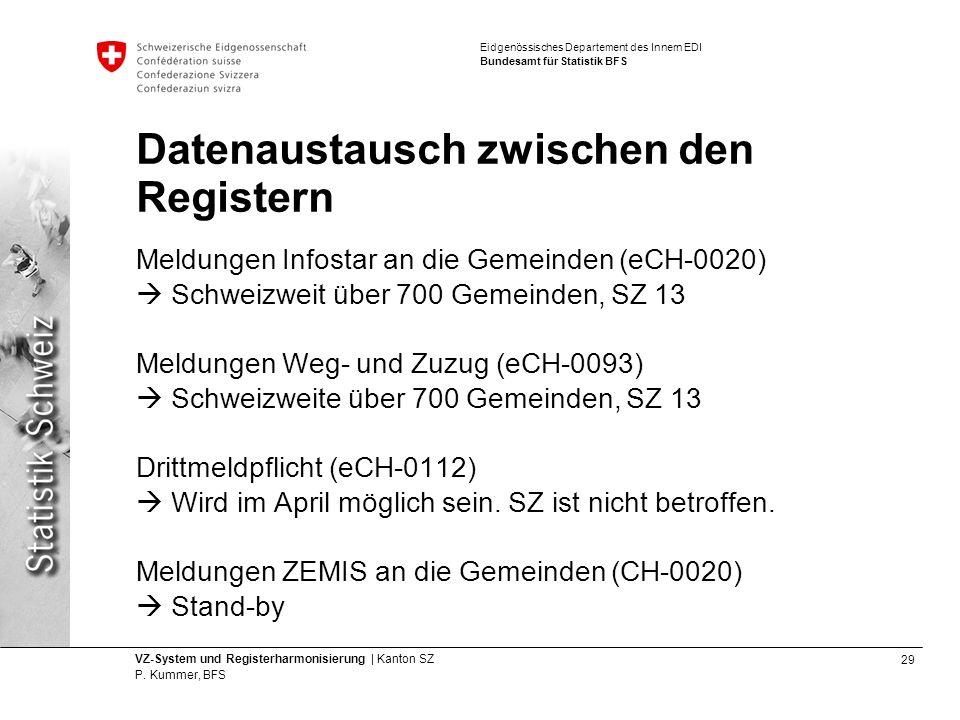 29 VZ-System und Registerharmonisierung | Kanton SZ P.