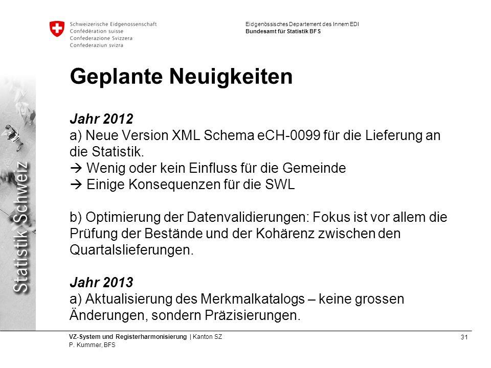 31 VZ-System und Registerharmonisierung | Kanton SZ P.
