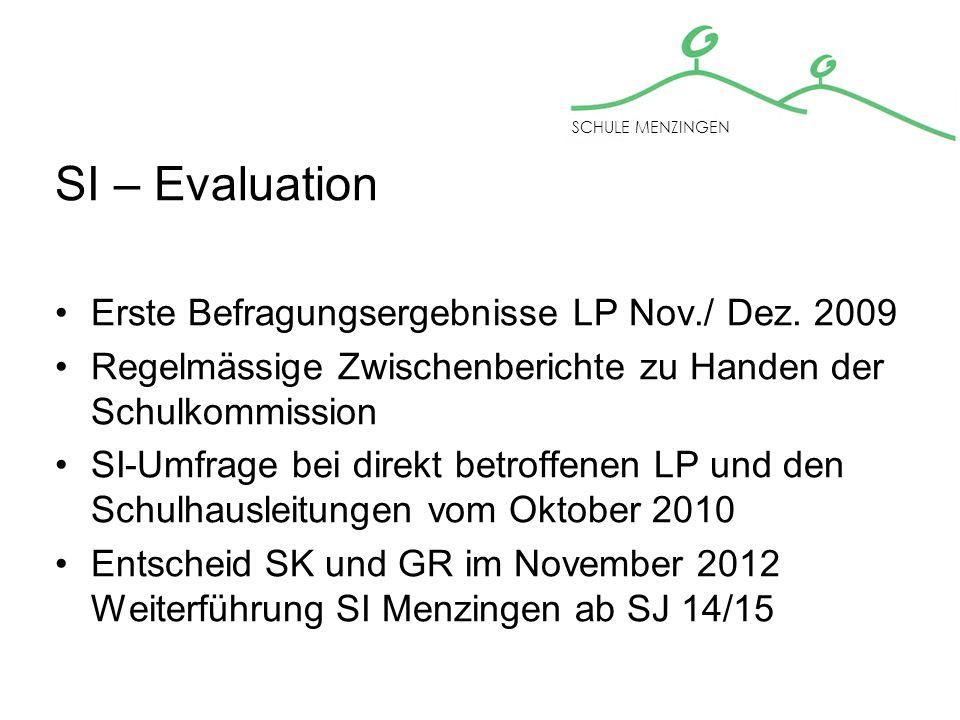 SI – Evaluation Erste Befragungsergebnisse LP Nov./ Dez.