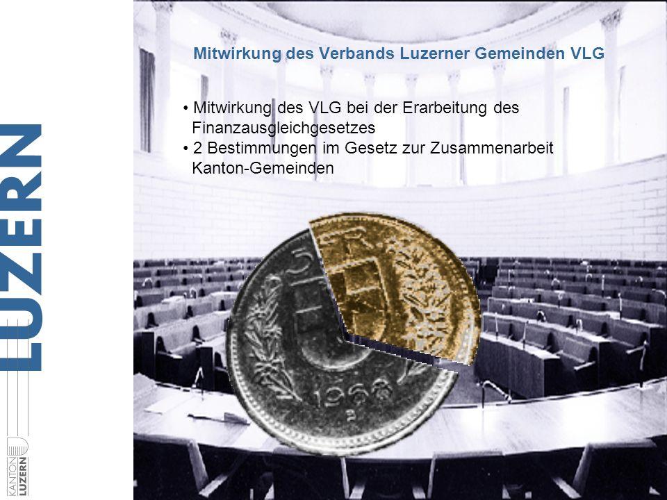 Justiz- und Sicherheitsdepartement Im Volksschulbildungsgesetz ist festgehalten: Der VLG vertritt die Gemeinden im Bereich der Volksschule Mitwirkung des Verbands Luzerner Gemeinden VLG