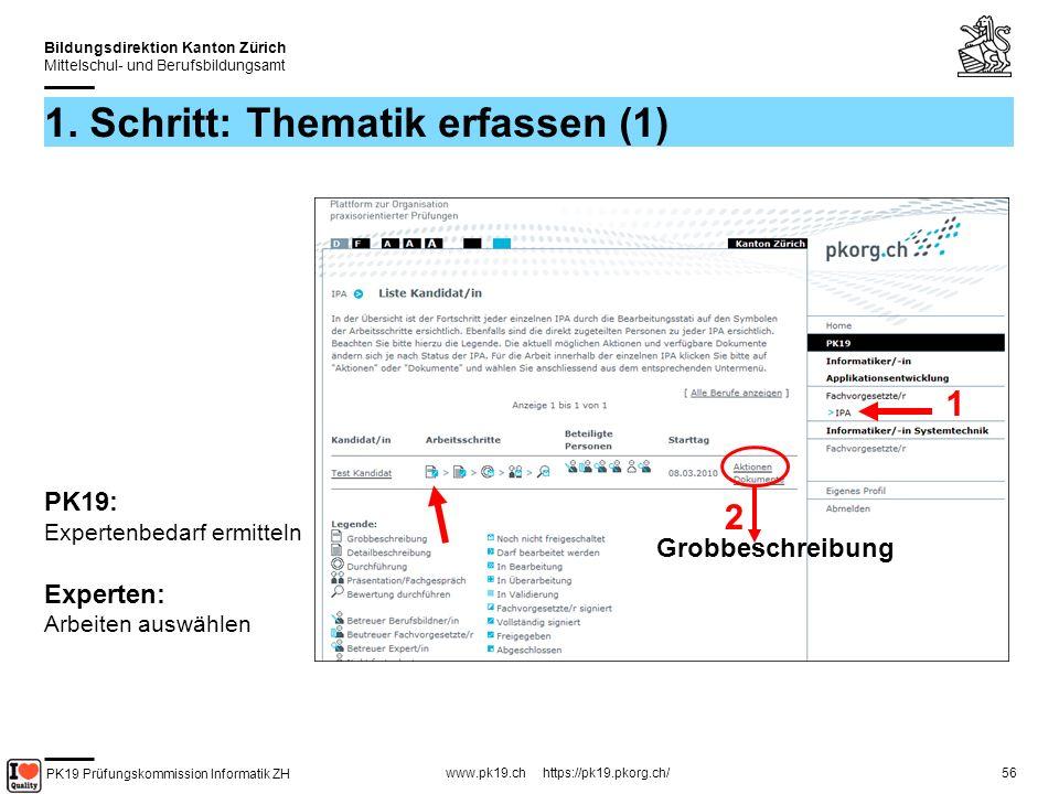 PK19 Prüfungskommission Informatik ZH www.pk19.ch https://pk19.pkorg.ch/ Bildungsdirektion Kanton Zürich Mittelschul- und Berufsbildungsamt 56 1.