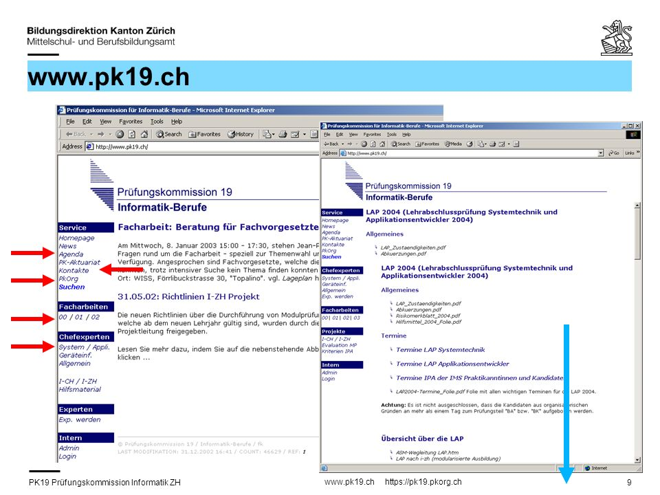 PK19 Prüfungskommission Informatik ZH www.pk19.ch https://pk19.pkorg.ch 9 www.pk19.ch
