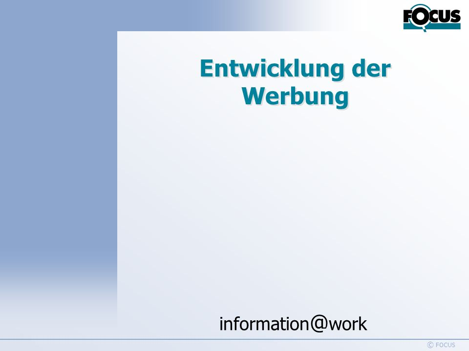 information @ work Handelswerbung 1995-2005 © FOCUS 14 Promotion - Definition Sales Promotions are marketing and communicative acitivities that change the price/value relationship of a product or service perceived by the target only for a short period of time. Schultz/Robinson/Petrison: Sales Promotion Essentials 3rd edition, 1998, pp.
