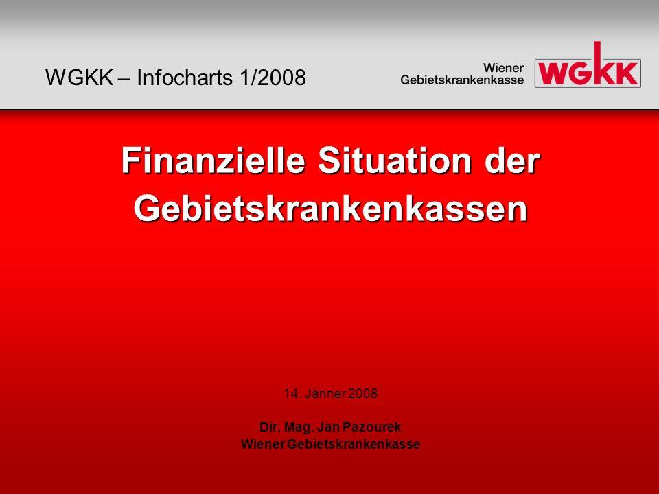 Finanzielle Situation der Gebietskrankenkassen Finanzielle Situation der Gebietskrankenkassen 14. Jänner 2008 Dir. Mag. Jan Pazourek Wiener Gebietskra