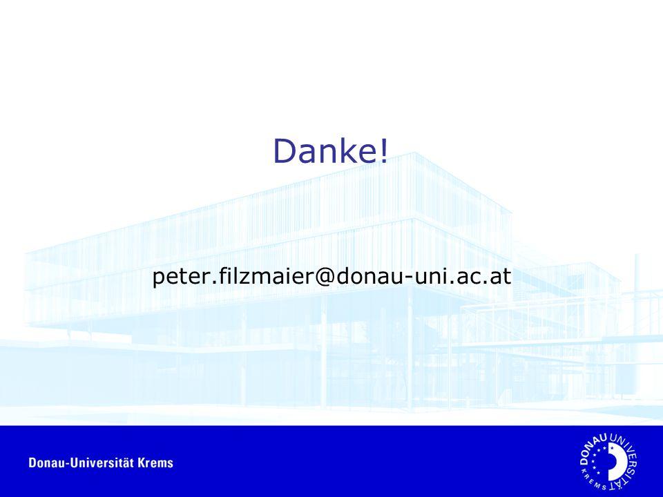Danke! peter.filzmaier@donau-uni.ac.at