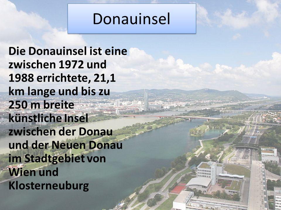 Sie ist Teil des Wiener Hochwasserschutzes und dient zudem gemeinsam mit der Alten und Neuen Donau als Naherholungsgebiet im Wiener Donaubereich.