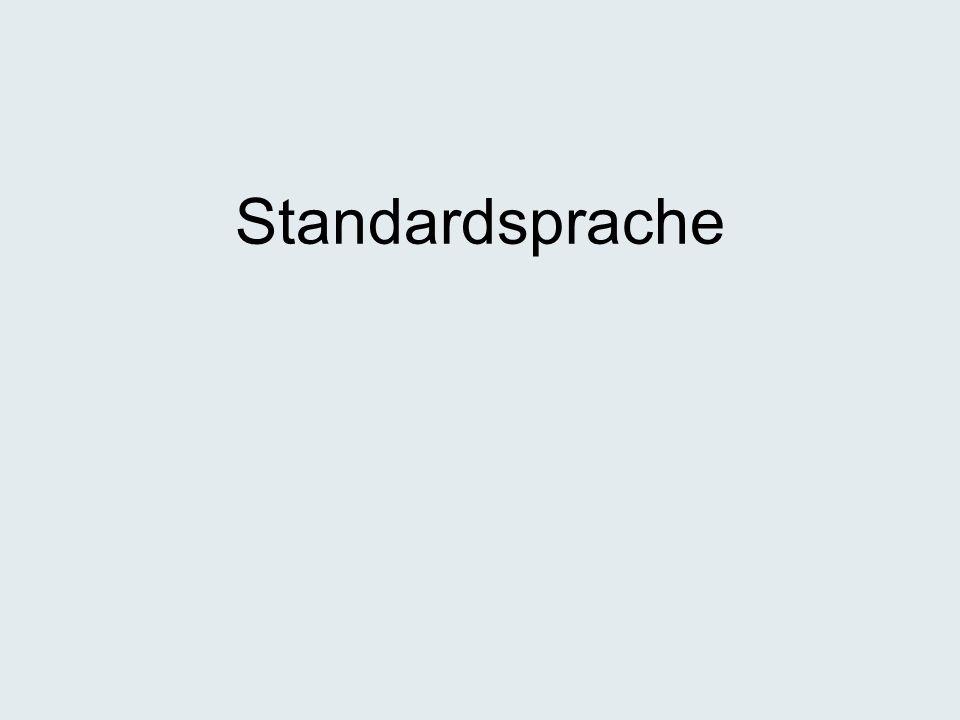 Standardsprache