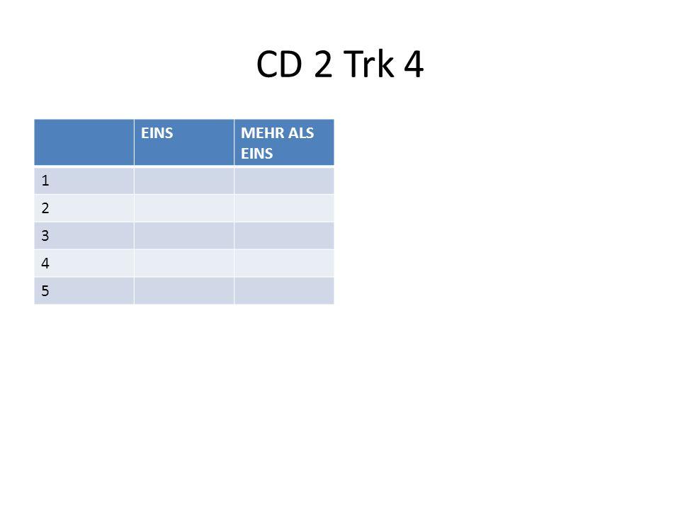 CD 2 Trk 4 EINSMEHR ALS EINS 1 2 3 4 5