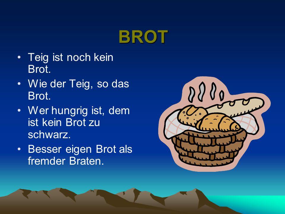 Über das Essen Nicht nur in unserem Land, sondern auch in Deutschland isst und trinkt man gerne. Und Brot spielt als Nahrungsmittel eine große Rolle.F