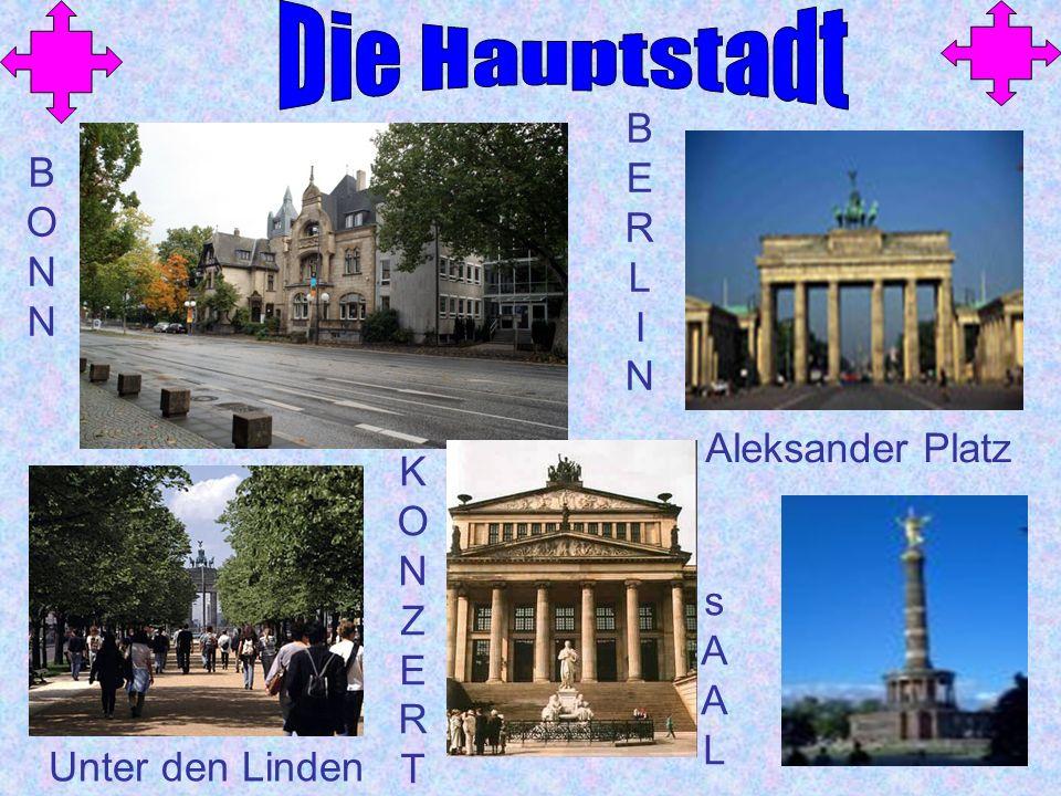 BONNBONN BERLINBERLIN Unter den Linden Aleksander Platz KONZERTKONZERT sAALsAAL