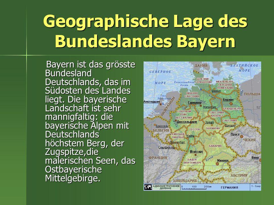München Die Hauptstadt Bayerns ist die Stadt München.