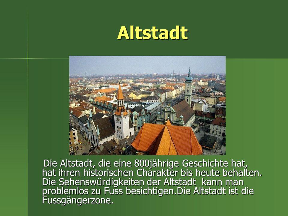 Marienplatz Marienplatz ist das Herz der Stadt.In seiner Mitte ist die Mariensäule.