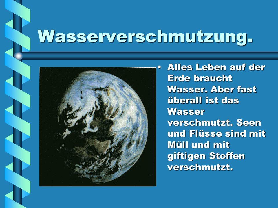 Das Ozonloch Die Ozonschicht, die uns schützt, wird durch Gase zerstört und bekommt ein Loch.
