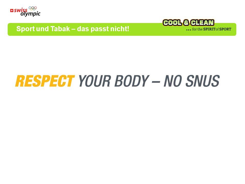 Sport und Tabak – das passt nicht!