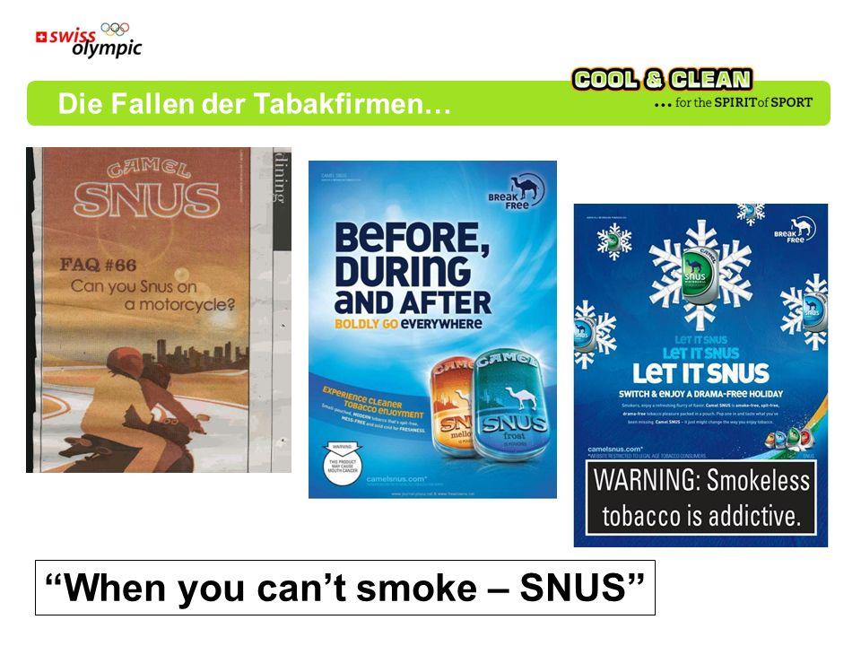 When you cant smoke – SNUS Die Fallen der Tabakfirmen…