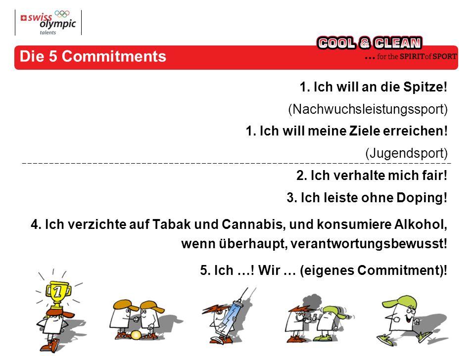 Die 5 Commitments 1. Ich will an die Spitze. (Nachwuchsleistungssport) 1.