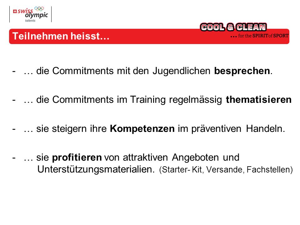 Was bietet «cool and clean».