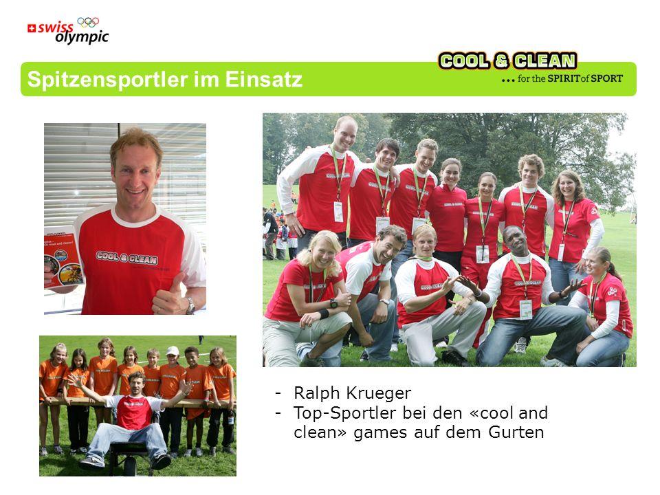 Spitzensportler im Einsatz -Ralph Krueger -Top-Sportler bei den «cool and clean» games auf dem Gurten