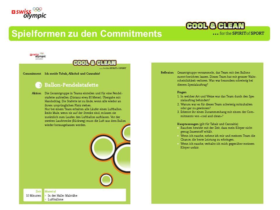 Spielformen zu den Commitments