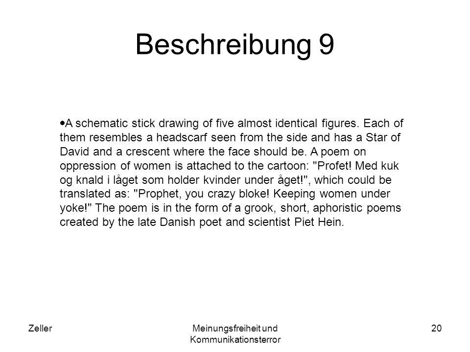 ZellerMeinungsfreiheit und Kommunikationsterror 20 Beschreibung 9 A schematic stick drawing of five almost identical figures. Each of them resembles a