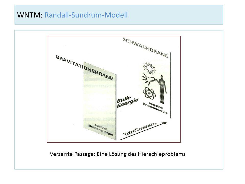 WNTM: Randall-Sundrum-Modell Verzerrte Passage: Eine Lösung des Hierachieproblems